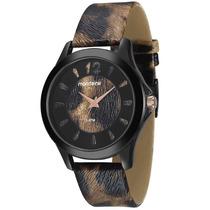 Relógio Feminino Mondaine, Pulseira De Couro, Caixa De 4 Cm