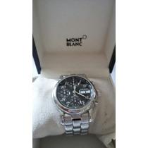 Relógio Cronógrafo Mont Blanc Automático Aço Aco
