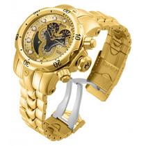 Relógio Invicta Venom 14462 Banhado 18k 100% Original