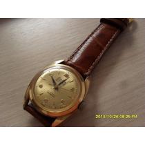 Lindo Relógio Antigo Eska Plaquê Em Ouro, Automático