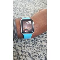 Apple Watch Sport,pulceira Azul,42mm Prata Aparelho Zero