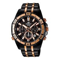 Relógio Casio Edifice Efr-534bkg Black Luz Original Efr-534