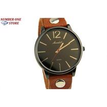 Relógio Feminino Pulso Original Mundell Preto Quartzo Couro