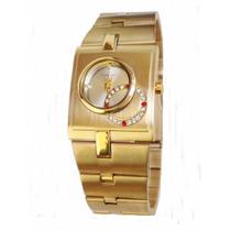 Relógio Feminino Dourado Lince Orient Promoção Lqg4043l