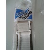 Pulseira Original Casio De Velcro Branca Dw-004