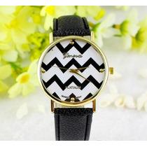 Relógio De Pulso Quartz Feminino Geneva - Pulseira Preta