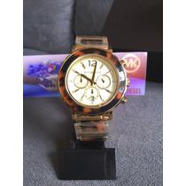Relogio Michael Kors Mk5790 Tartaruga Gold Original Completo