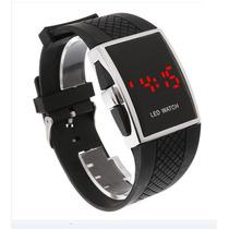 Relógio Digital Esportivo Led Vermelho Feminino E Masculino