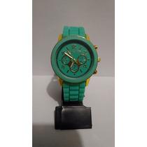 Lindo Relógio Feminino Michael Kors - Verde Água E Dourado
