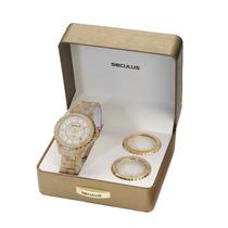 Relógio Seculus Feminino Moda 24774lpsfdp3