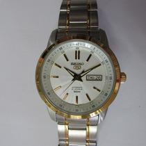 Relógio De Pulso Seiko Automático Masculino Misto Snkm92b1