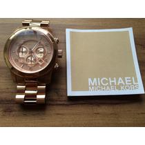 Relógio Michael Kors Rose Modelo Mk 8096 Original