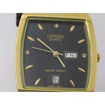 Relógio Citizen Ctz-021 Luxo Preto/ouro - Dia Dos Namorado
