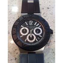 Relógio Bvlgari Diagono Fundo Preto 42mm Dg 42 Sv Ch