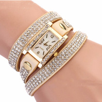 Relógio Bracelete Pulseira C/ Brilho Bonito Moderno E Barato