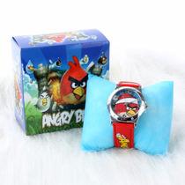 Lindo Relógio + Case Infatil Angry Birds Presente Crianças