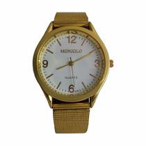 Relógio Feminino Dourado Aço Inoxidável