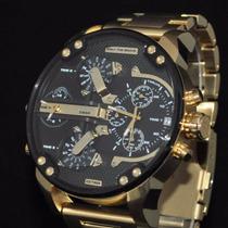 Relógio Diesel Dz7333 Mr. Daddy 2.0 Dourado 12x Sem Juros