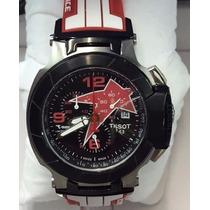 Relógio Vermelho Tissot T-race Moto Gp Original Excelente A