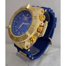 Relógio Invicta Venom Cronos 100% Funcionais Azul