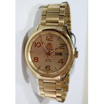 Relógio Orient Dourado Masculino Automático 469gp062 C2kx Wr