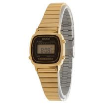Relógio Casio La670wga Feminino Retro Dourado Crono. Alarme