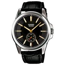 Relogio Masculino Casio, Couro, Cx 4,8 Cm - Mtp-e101l1avdf