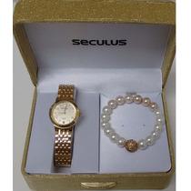 Relógio Seculus Feminino Long Life 60635lpsbda1