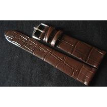 Pulseira Couro 20mm Relógio Luxo Legítimo Sem Costura