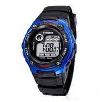 Relógio Pulso Masculino Azul Digital Esportivo Prova D