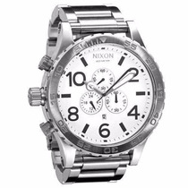 Relógio Nixon 51-30 Chrono Prata Original Frete Grátis