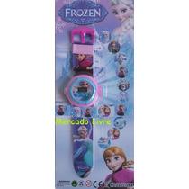 Frozen Relógio Projetor De Luz Com Slides Do Filme Disney