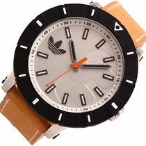 Relógio Adidas Adh2999 Masculino Pulseira De Couro Original