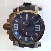 Relógio Masculino Oakley Com Visor Safira - Azul