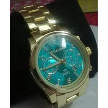 Lindo Relógio Michael Kors Feminino Series Azul Frete Gratis