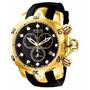 Invicta Reserve Venom 6112 Banhado Ouro Completo C Caixa