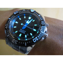 Seiko Sportura Kinetic Divers Mod - Ska561p1 Safira *único*