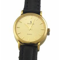 Relógio Seculus Feminino Todo Em Ouro 18k A Quartz J6086