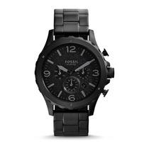 Relógio Masculino Fossil Nate Cronógrafo Jr14701pn Aço Preto