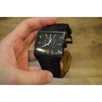 Relógio Armani Exchange Ax2035 Retangular Pulseira Couro