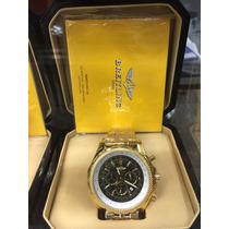 Relogio Breitling Dourado Garantia 1 Ano 12x Sem Juros