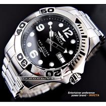 Relógio Suíço Invicta Pro Diver Masculino Prata Preto Aço