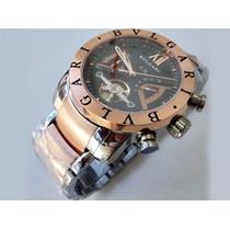 Relógio Iron Man Prata Com Ouro Rosê