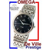 Elegante Omega De Ville Prestige Aço-aço Slim Black !