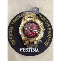 Relógio Festina Dourado Original+ Caixa + Frete Gratis