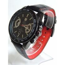 Relógio Masculino Carrera Rs2 Calibre 17 Pulseira Em Couro