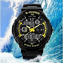 Relógio Esporte Digital/analógico Mergulho 50mt Frete Grátis