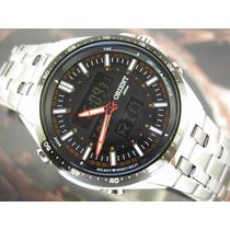 Relógio Orient Cronógrafo Alarm Analógico E Digital Mbssa042
