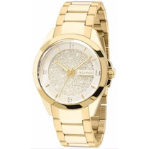 Relógio Technos Feminino 203aaa/4k Dourado Ouro Swarovski
