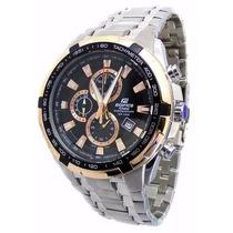 Relógio Casio Edifice Ef-539 D Prata Dourado Pronta Entrega